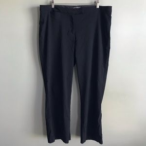 Lane Bryant plus size black career pants